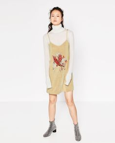 Image 1 of PATCH DRESS WITH STRAPS from Zara