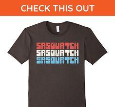 Mens Retro Distressed Sasquatch Patriotic 4th of July T-Shirt Large Asphalt - Retro shirts (*Amazon Partner-Link)