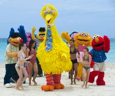 Kids having fun with the Sesame Street characters brought to you by Beaches. www.vowtotravel.com Book a well deserved getaway today!