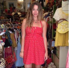 Danielle looks captivating in her new dress she just scored from the shop!