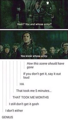 For the people who still don't get it: You know whose army=You know who's army. I hope that helps Harry Potter Jokes, Harry Potter Fandom, Harry Potter World, Ron Weasly, No Muggles, Yer A Wizard Harry, Dc Memes, Harry Potter Universal, Mischief Managed