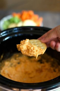 I've got a little better way to get all the flavors of the buffalo wings, but in a neater Cheesy Buffalo Chicken Dip.