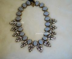 J.Crew style Gray Bubble Crystal  NecklaceBeaded by jewelryyuubi, $49.00