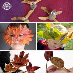 16 Fall Nature Crafts for Preschoolers. Look at that mask!
