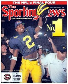 Michigan Football 1998 National Champions on the Sporting News.