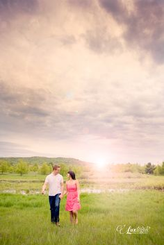 walk in the fields of rural farms for a vintage inspiration engagement photo shoot-more wedding inspired pics at www.luxlightphotography.net