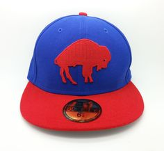 BUFFALO BILLS HISTORIC NFL NEW ERA 59 FIFTY LOGO FITTED HAT/CAP (SIZE 6 7/8)-NEW #NEWERA59FIFTY #BuffaloBills