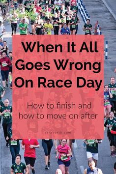 No matter how well you train and how great you feel going into race day, some races just fall apart before your eyes. On the blog: what to do when it all seems to go wrong on race day - how to finish the race and move on after Marathon Tips, Marathon Training, All Goes Wrong, Old Adage, Dramatic Effect, When You Know, Having A Bad Day, Running Tips, Do Everything