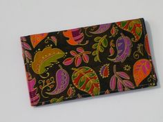 Checkbook Cover for Duplicate Checks with by creativemoments, $12.00. Great for Fall!