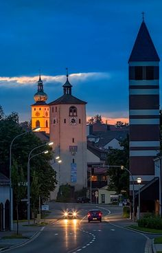 The watchtower and Cathedral of Christ the Saviour - Tirschenreuth, Bavaria, Germany | by Harald Nachtmann http://www.harald-nachtmann.de