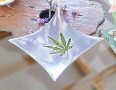 ab1d8a71cb4 Marijuana Leaf Silver Incense Stick Burner   Catch Tray Morning Star-Shaped