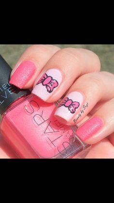 Cute & shiney nail art