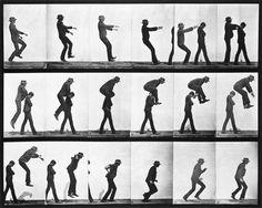 Leapfroging men, photo Eadweard Muybridge (1830-1904), from Animal Locomotion. Calotype. US, 1887.