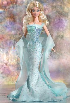 March Aquamarine Barbie Doll