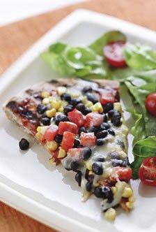 Smoky Corn & Black Bean Pizza