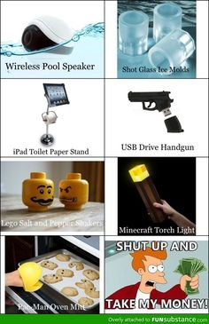 Shut up and take my money / iFunny :) Take My Money, Toilet Paper Stand, Glass Molds, Torch Light, Cool Inventions, Fresh Memes, Shut Up, Cool Gadgets, Things To Buy