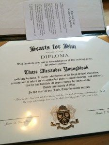 I ordered the Exclusive High School Diploma. This was not a generic diploma. It was a beautiful diploma with many options for personalization. We could choose a crest, the font, the name and how we want it printed (font) and even the wording on the diploma.It included signature lines for both parents, if you wanted them. By personalizing it, we were able to tailor it specifically for our homeschool.