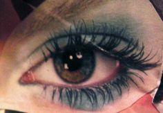 White blue eyeshadow