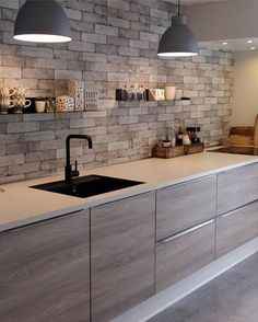 5 Stupefying Cool Ideas: Natural Home Decor Ideas Farmhouse Style natural home decor modern rustic.Natural Home Decor Modern Lights natural home decor earth tones woods.Natural Home Decor Modern Mid Century. Modern Kitchen Interiors, Modern Kitchen Design, Home Decor Kitchen, Interior Design Kitchen, Kitchen Furniture, Home Design, New Kitchen, Home Kitchens, Design Ideas