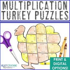 Thanksgiving Math Worksheet Alternative | Digital Thanksgiving Math Games | 3rd, 4th, 5th grade, Activities, Basic Operations, Google Apps, Homeschool, Math, Math Centers, Thanksgiving Shape Puzzles, Maths Puzzles, Thanksgiving Math Worksheets, Math Games, Math Math, Multiplication, 3rd Grade Classroom, Math Projects, Critical Thinking Skills