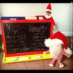"Elf keeps a ""naughty and nice"" list"
