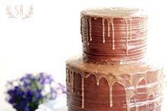 Salted carmel wedding cake Wedding Cake | Sarah Hummert Photography www.sarahhummertphoto.com