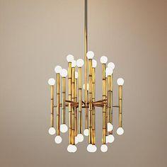 Jonathan Adler Meurice Collection 30-Light Brass Chandelier - #G2626 | www.lampsplus.com