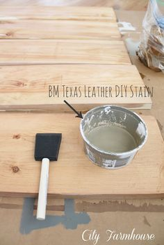Ikea Hacked Barnboard Coffee Table Tutorial. great section on staining the wood