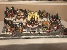 custom christmas village display platform lemax department 56 snow village - Miniature Christmas Village