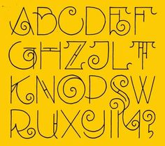 Alfabet based on the lettering of het Scheepvaart Huis. One of my personal favourite examples of Amsterdam lettering. Link takes you to the site,not this alphabet. Alphabet Design, Hand Lettering Alphabet, Doodle Lettering, Creative Lettering, Lettering Styles, Calligraphy Letters, Typography Letters, Lettering Design, Alphabet Letters