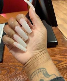 different nail shapes Winged Eyeliner French Tip Acrylic Nails, Bling Acrylic Nails, White Acrylic Nails, Square Acrylic Nails, Glam Nails, Best Acrylic Nails, Acrylic Nail Designs, Clear Acrylic, Coffin Nails
