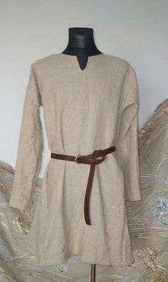 Early Medieval shirt Manually Stitching  by SlavMedievalShop, $99.00