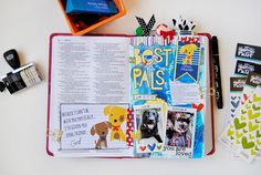 mixed media journaling Bible page by Elaine about including our pets
