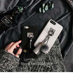 Fashion Mink Hair Ball Tassel Case Capa for iPhone 6 6s 6 Plus 7 7plus Soft Plush Case Cover National Style Tassel