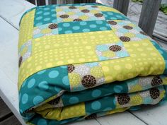 Baby Quilt Modern quilt toddler quilt by StitchSewGood on Etsy