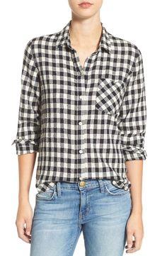 Current/Elliott 'The Workwear' Check Slim Boyfriend Shirt available at #Nordstrom