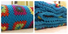 Manta tejida a crochet. Woven blanket crochet, granny square. Se realizan en todas las medidas, con lanas en colores a elección. Quilts