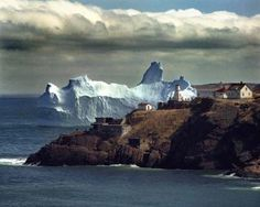 Icebergs off of St John's Newfoundland
