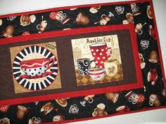 Coffee Table Runner or Wall Art quilted  fabric from Timeless Treasures and Exclusively Quilters