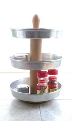 Mash Ups Kitchen Organizer Spice Rack by tayloredtreasure on Etsy, $45.00