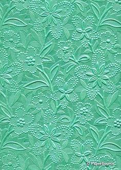 Green embossed