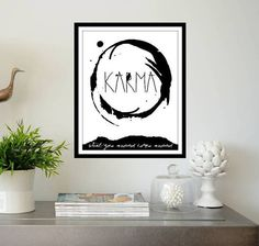 Typographic Print  KARMA Quote Printable by PrintableExpressions