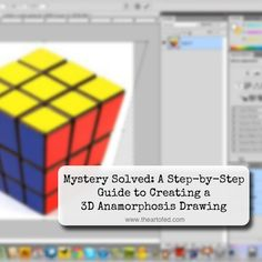 Through this tutorial you will learn how to manipulate photos of common everyday objects so they can be used as references for anamorphosis drawings. Art Club Projects, Drawing Projects, Drawing Lessons, Art Lessons, 3d Pencil Drawings, 3d Art Drawing, Chalk Drawings, Drawing Step, Elementary Art Rooms