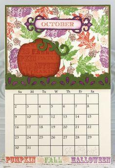 October Calendar designed by Sharon Harnist