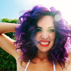 Julie swears by oVertone to keep her purple hair vibrant. If you are bold enough to go for bright color (or even pastels) give oVertone a try. Extreme Purple oVertone - Purple Hair