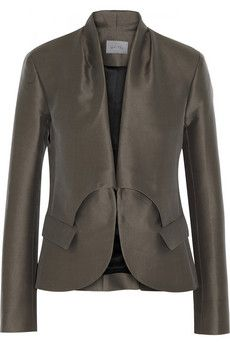 Maiyet Cotton blend Twill Blazer in Gray - Lyst Street Outfit, Frame Denim, Pattern Fashion, Love Fashion, Leather Skirt, Blazers, My Style, Coat, Jackets