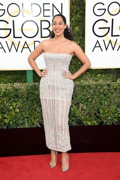 TRACEE ELLIS ROSS In Zuhair Murad, and YEPREM and Kavant&Sharart jewelry.
