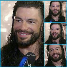 Roman Reigns Smile, Wwe Roman Reigns, Love Your Smile, Roman Reings, Zimbabwe, Roman Empire, Guys, Long Hair, Fictional Characters