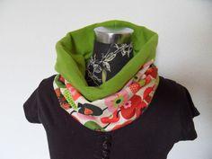 Bunter Schal Tuch  Loop  Apfel von Zellmann Fashion auf DaWanda.com