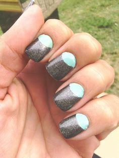 Half moon nail mani
